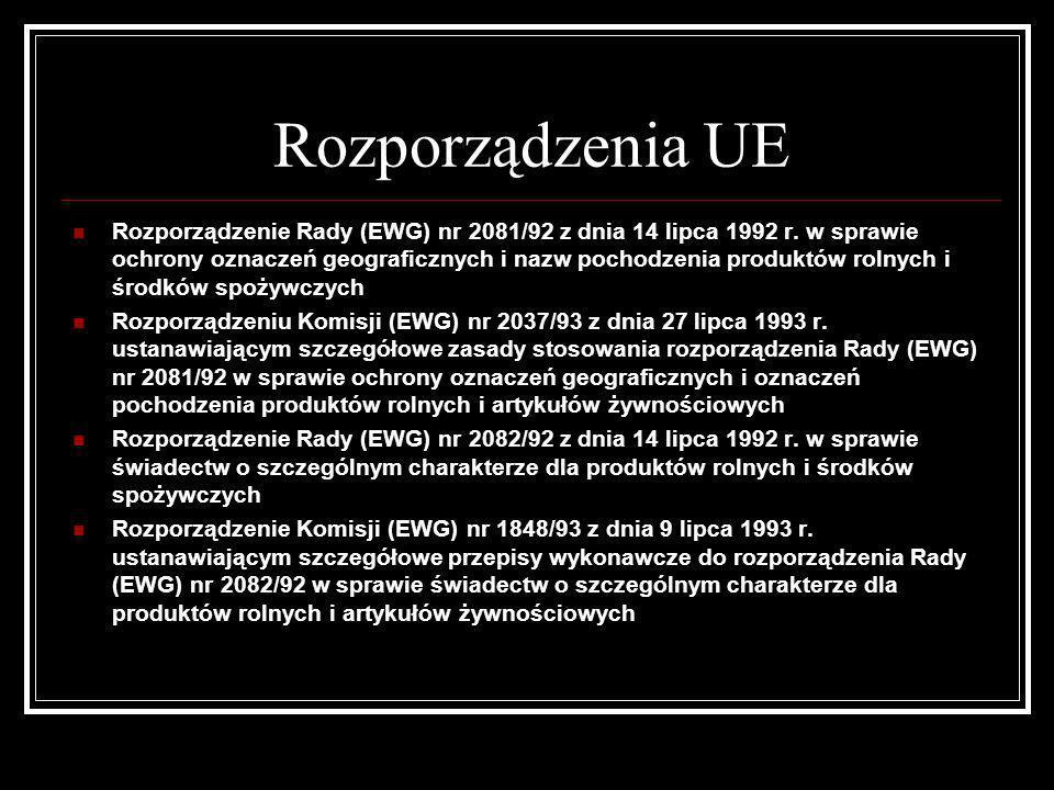 Rozporządzenia UE