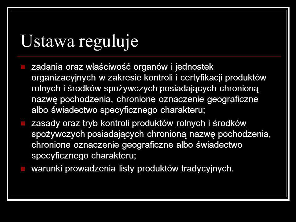 Ustawa reguluje