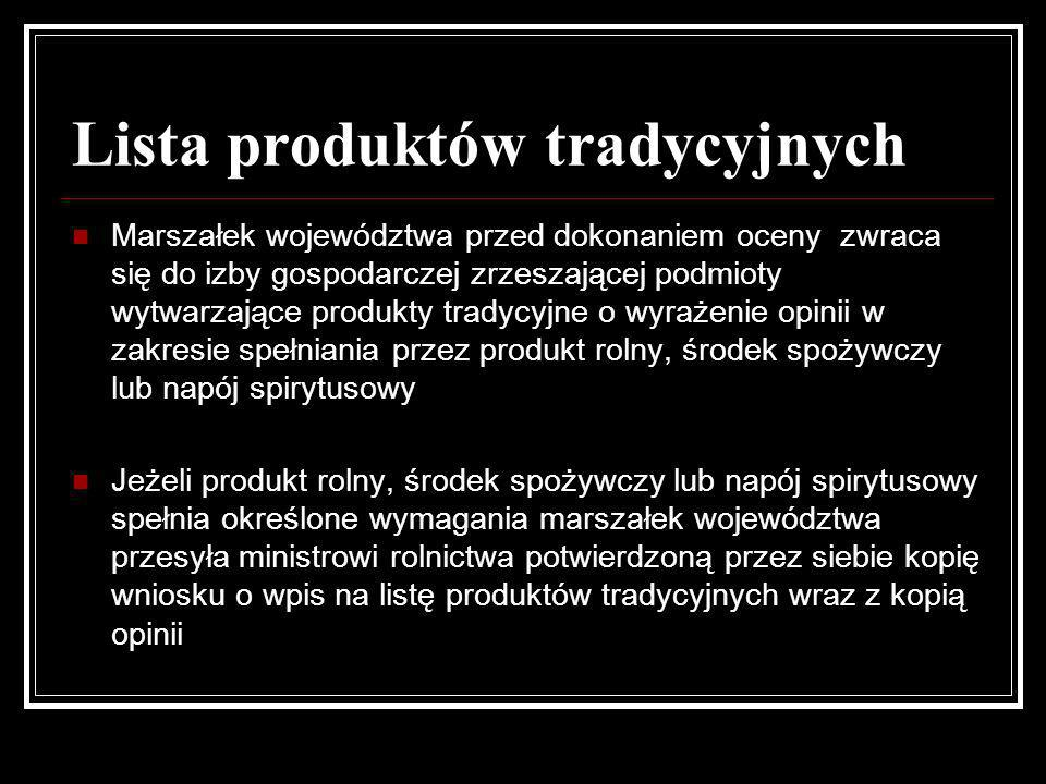 Lista produktów tradycyjnych