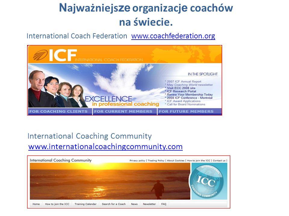 Najważniejsze organizacje coachów na świecie.