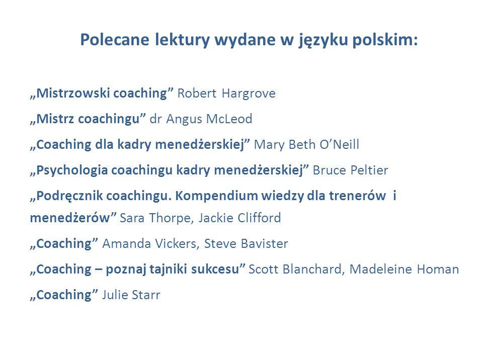 Polecane lektury wydane w języku polskim: