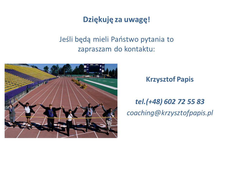 Krzysztof Papis tel.(+48) 602 72 55 83 coaching@krzysztofpapis.pl