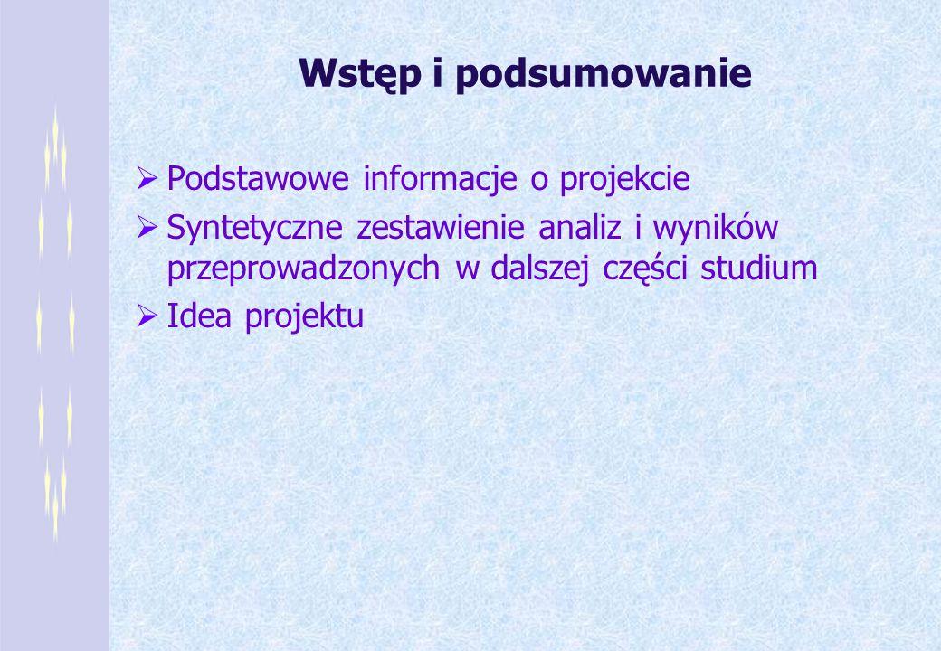 Wstęp i podsumowanie Podstawowe informacje o projekcie