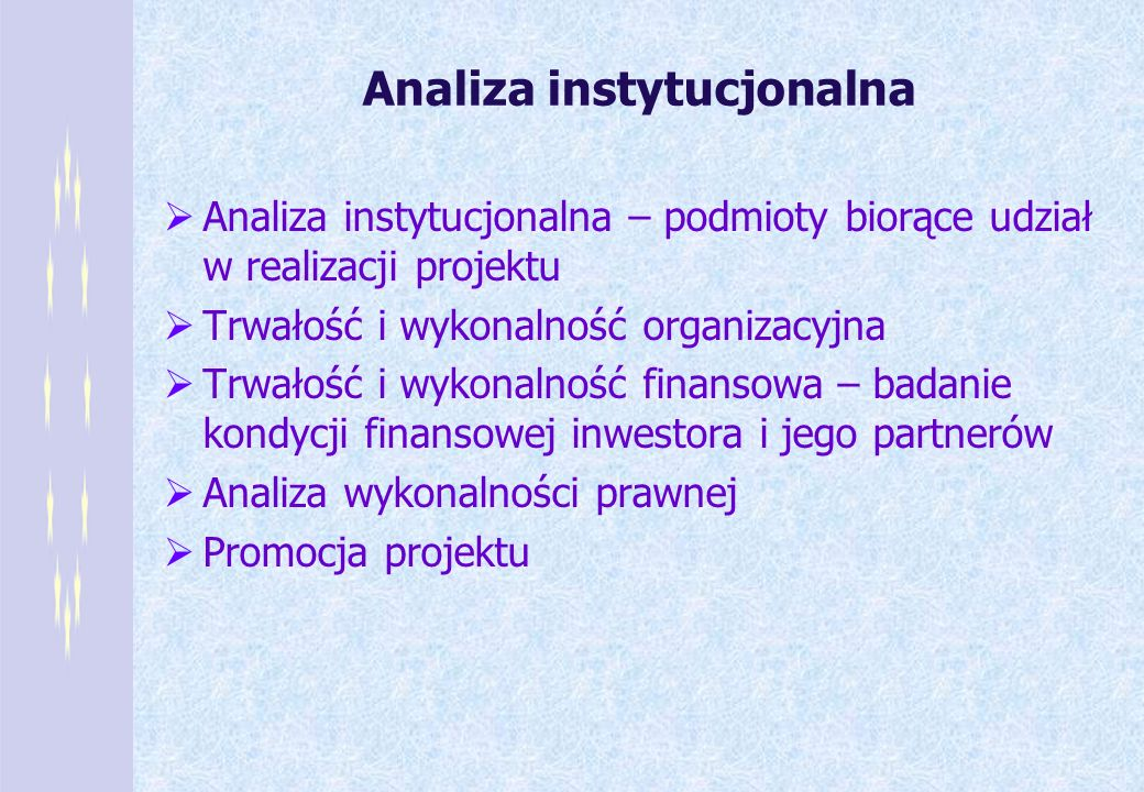 Analiza instytucjonalna