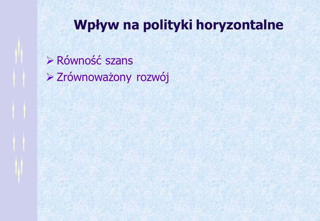 Wpływ na polityki horyzontalne