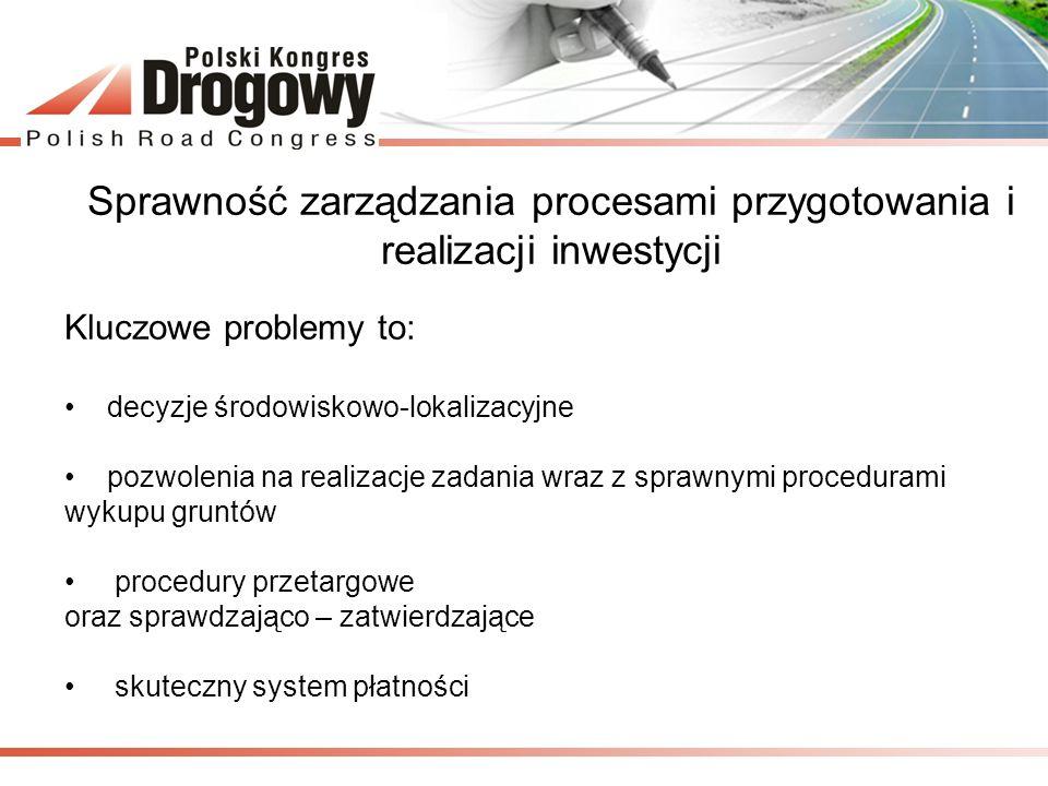 Sprawność zarządzania procesami przygotowania i realizacji inwestycji
