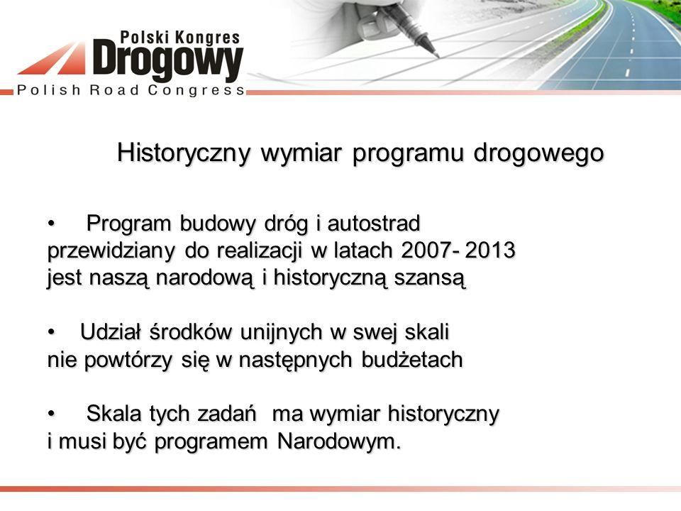 Historyczny wymiar programu drogowego