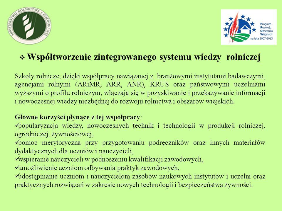 Współtworzenie zintegrowanego systemu wiedzy rolniczej