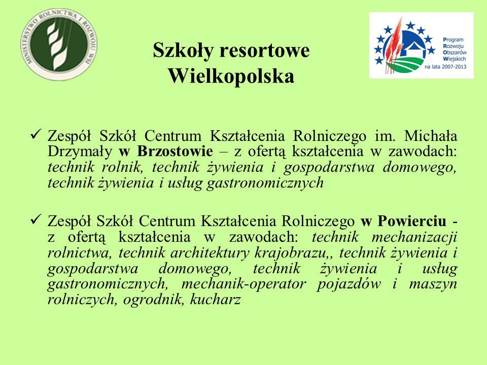 Szkoły resortowe Wielkopolska