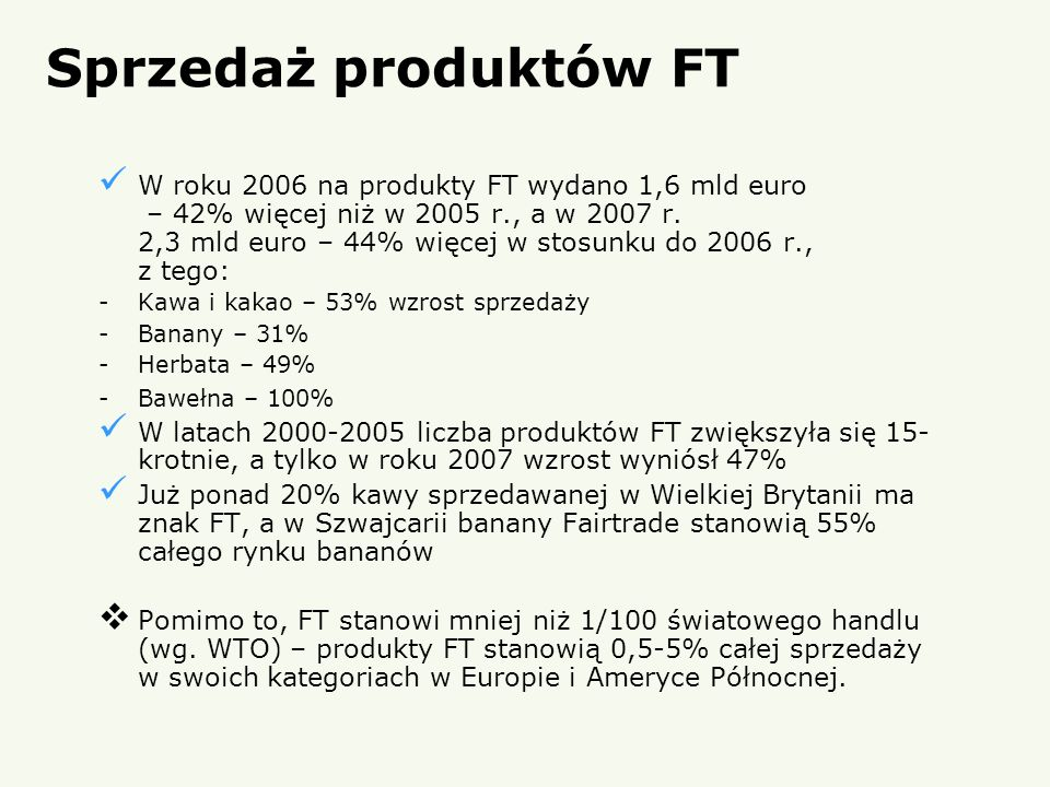 Sprzedaż produktów FT