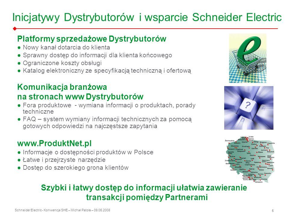 Inicjatywy Dystrybutorów i wsparcie Schneider Electric