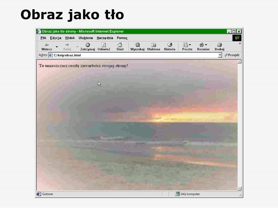 Obraz jako tło