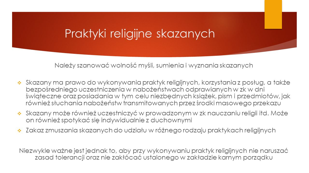 Praktyki religijne skazanych