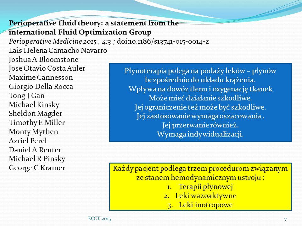 Perioperative Medicine 2015 , 4:3 ; doi:10.1186/s13741-015-0014-z