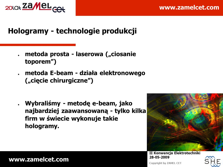 Hologramy - technologie produkcji