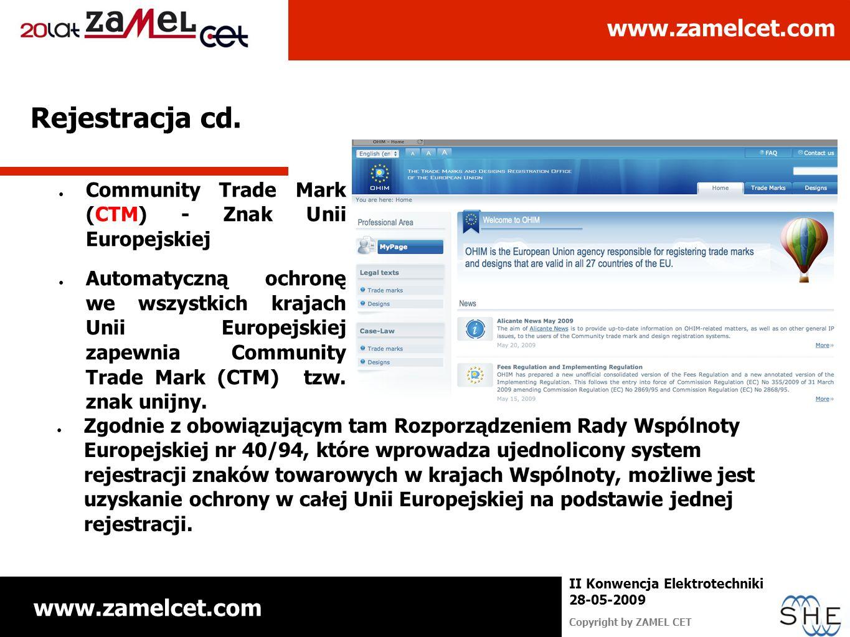 Rejestracja cd. Community Trade Mark (CTM) - Znak Unii Europejskiej