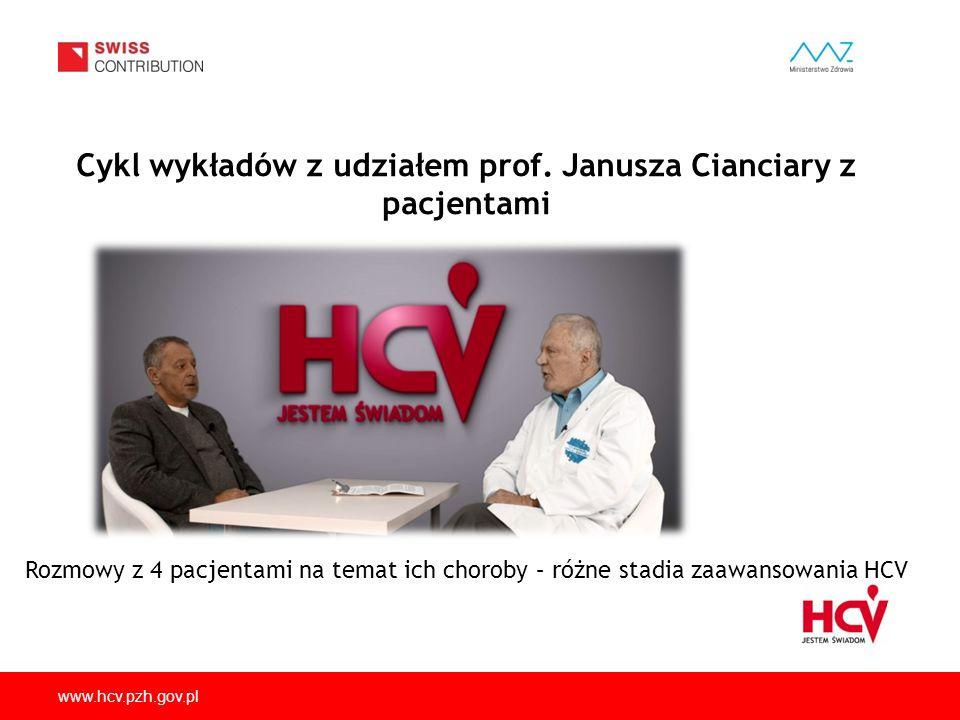 Cykl wykładów z udziałem prof. Janusza Cianciary z pacjentami