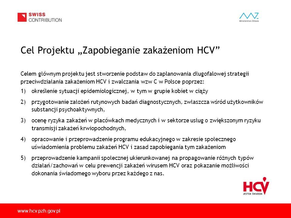 """Cel Projektu """"Zapobieganie zakażeniom HCV"""