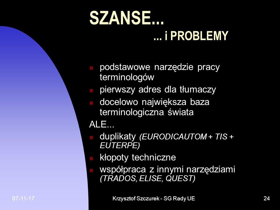 Krzysztof Szczurek - SG Rady UE