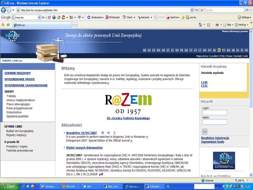 Eur-lex – prawodawstwo UE w sieci