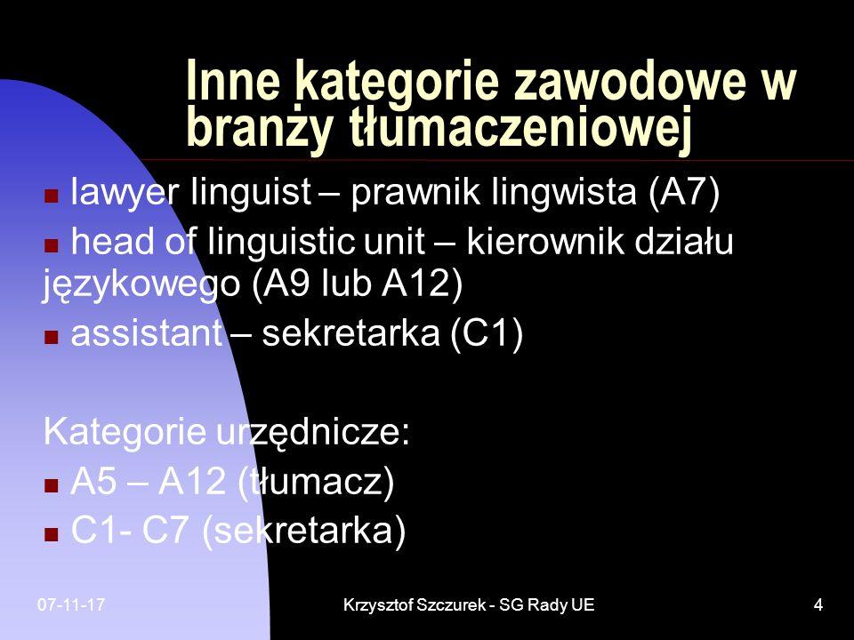 Inne kategorie zawodowe w branży tłumaczeniowej