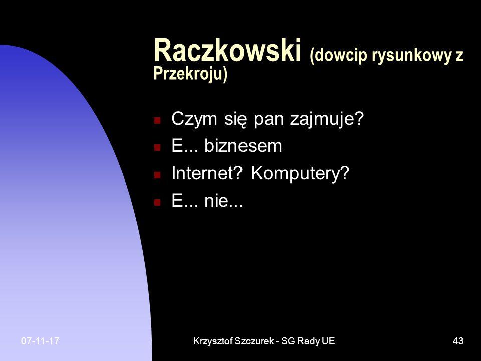 Raczkowski (dowcip rysunkowy z Przekroju)