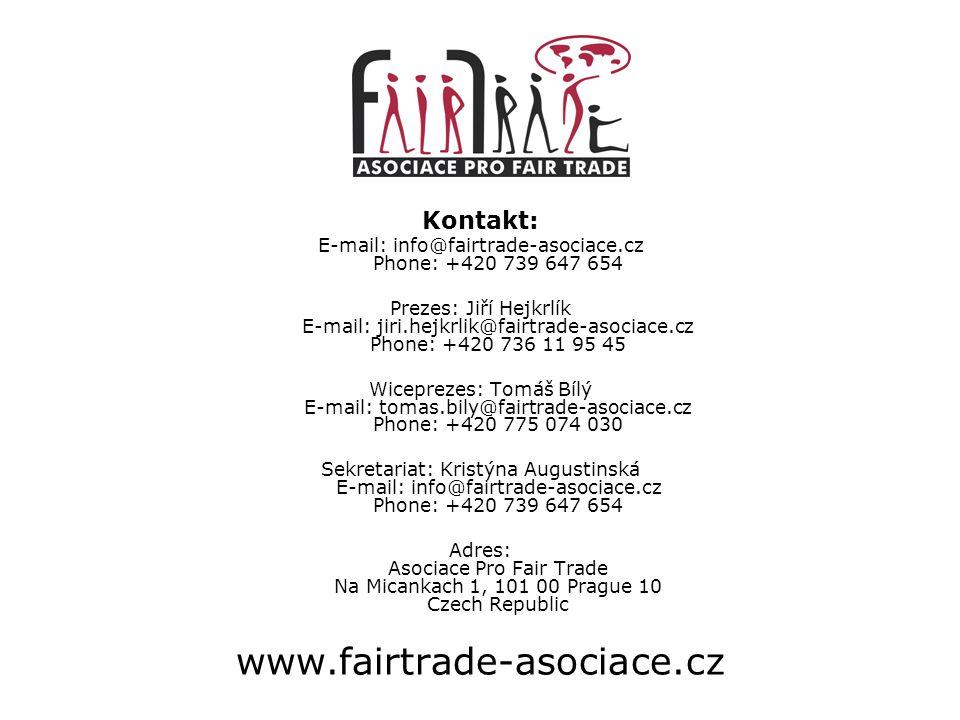 E-mail: info@fairtrade-asociace.cz Phone: +420 739 647 654