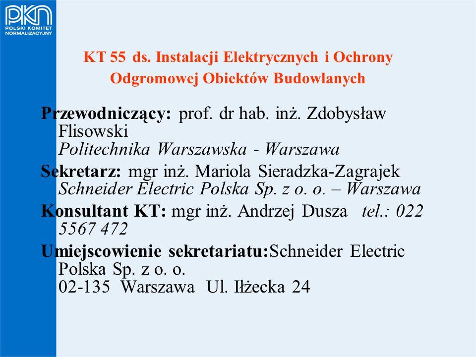 Konsultant KT: mgr inż. Andrzej Dusza tel.: 022 5567 472