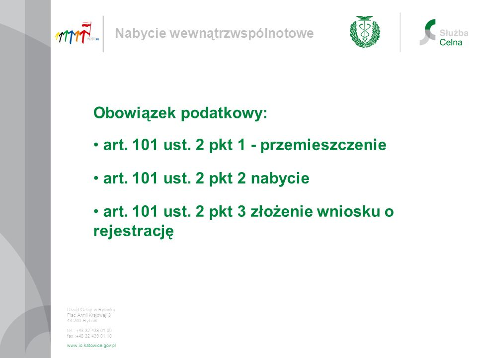 art. 101 ust. 2 pkt 1 - przemieszczenie