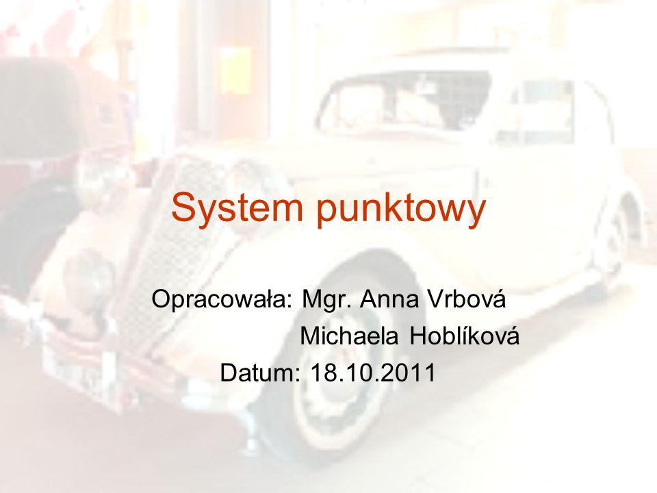 Opracowała: Mgr. Anna Vrbová Michaela Hoblíková Datum: 18.10.2011