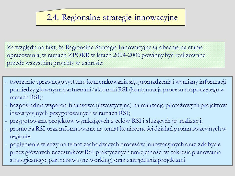 2.4. Regionalne strategie innowacyjne