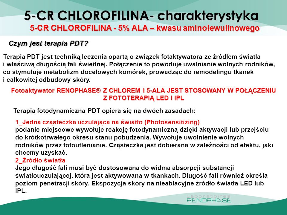5-CR CHLOROFILINA- charakterystyka