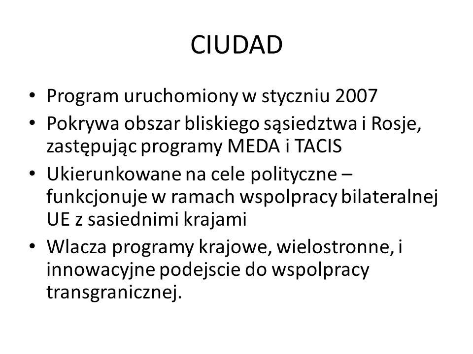 CIUDAD Program uruchomiony w styczniu 2007