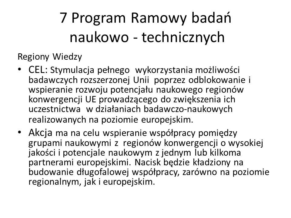 7 Program Ramowy badań naukowo - technicznych