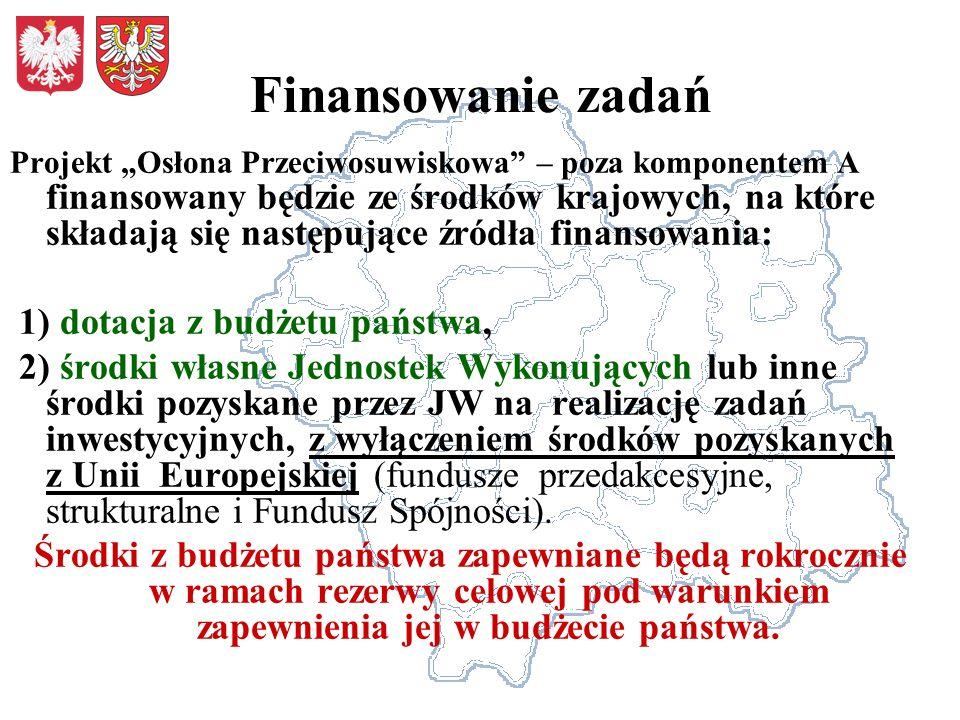 Finansowanie zadań 1) dotacja z budżetu państwa,