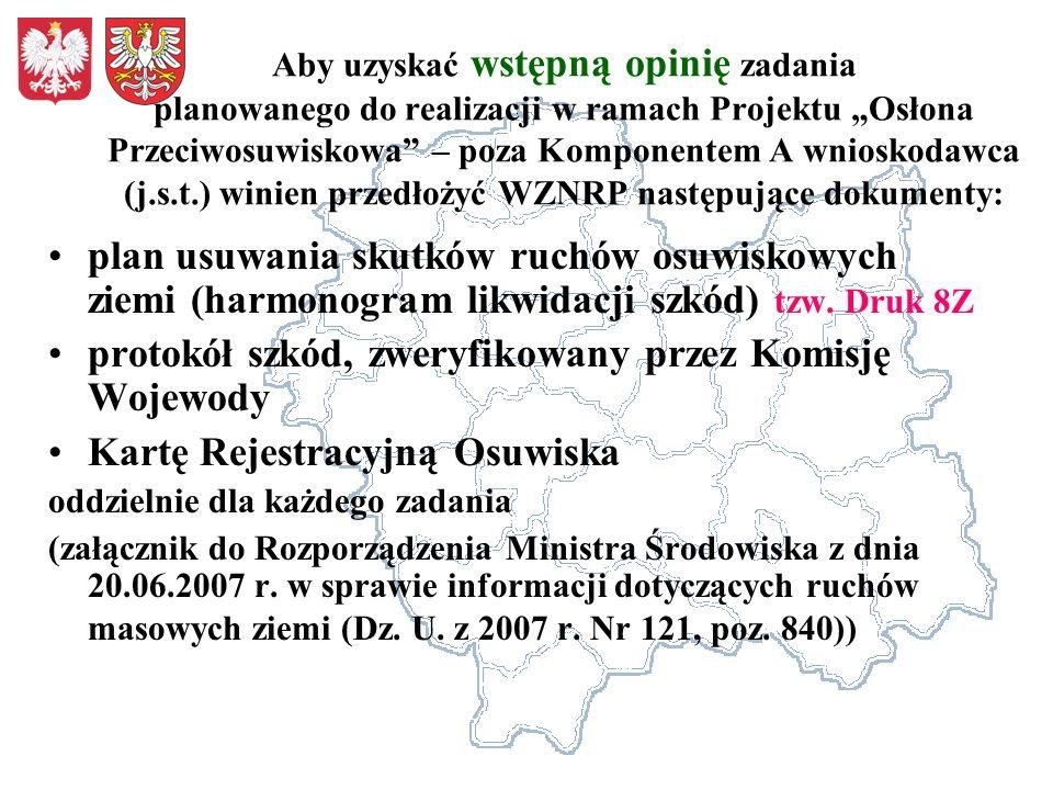 protokół szkód, zweryfikowany przez Komisję Wojewody