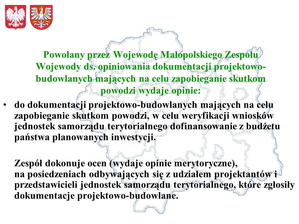 Powołany przez Wojewodę Małopolskiego Zespołu Wojewody ds