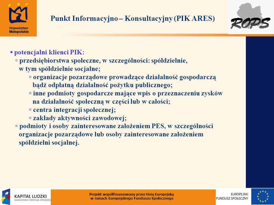 Punkt Informacyjno – Konsultacyjny (PIK ARES)