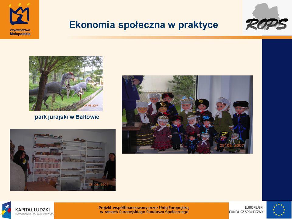 Ekonomia społeczna w praktyce park jurajski w Bałtowie