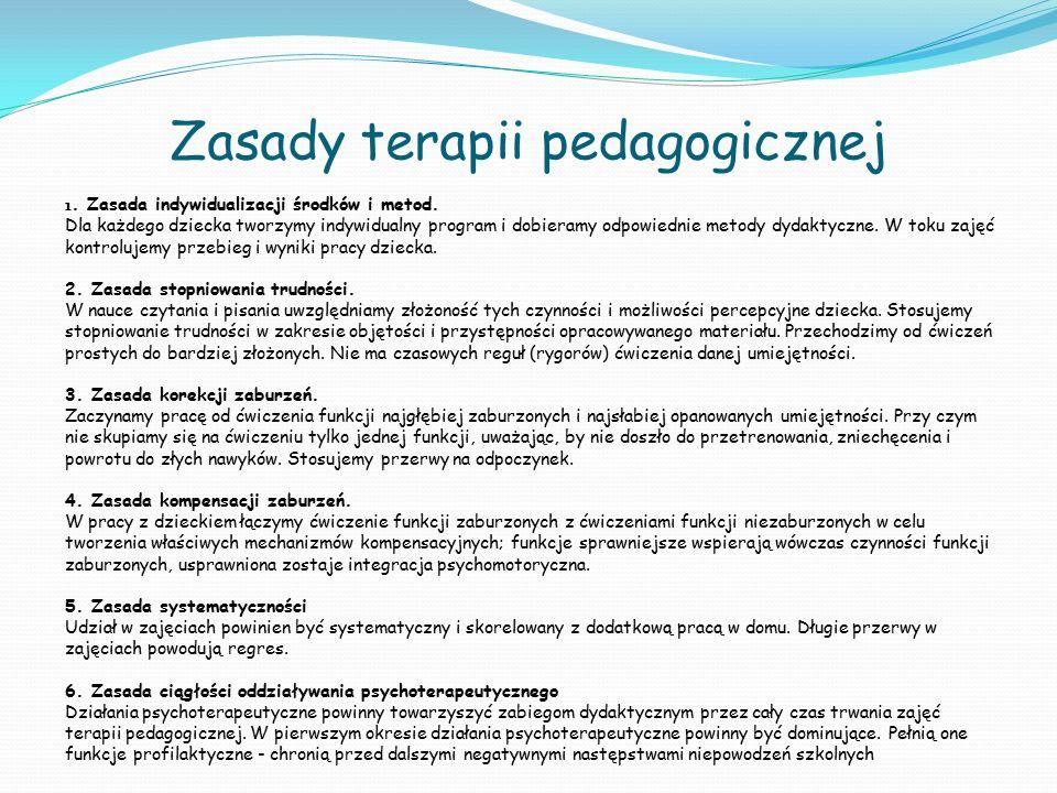 Zasady terapii pedagogicznej