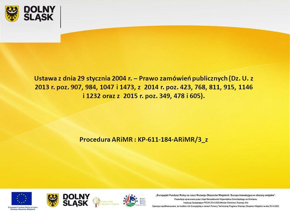 Procedura ARiMR : KP-611-184-ARiMR/3_z