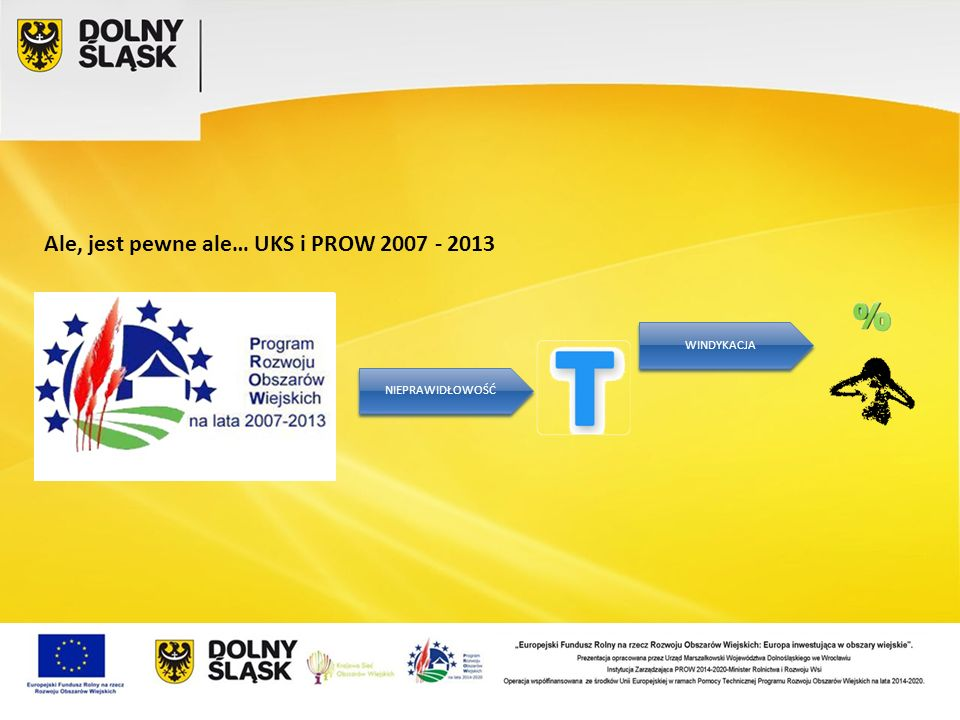 Ale, jest pewne ale… UKS i PROW 2007 - 2013