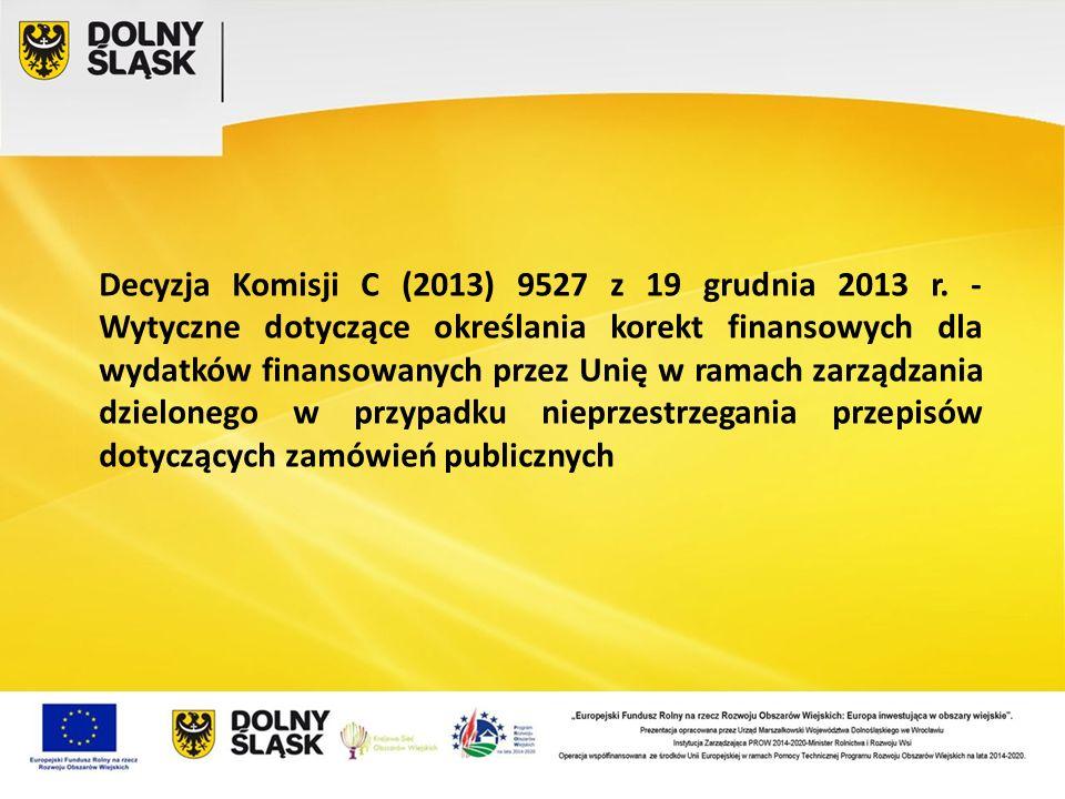 Decyzja Komisji C (2013) 9527 z 19 grudnia 2013 r