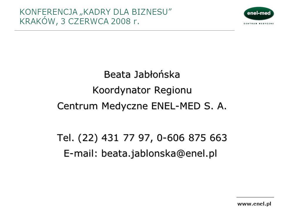 """KONFERENCJA """"KADRY DLA BIZNESU KRAKÓW, 3 CZERWCA 2008 r."""