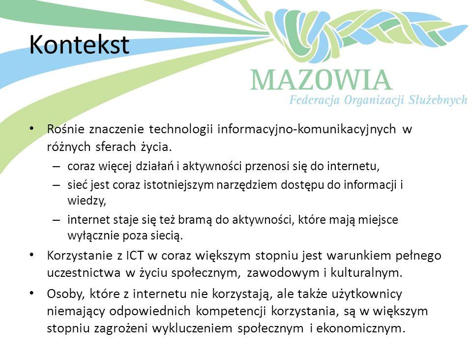 KontekstRośnie znaczenie technologii informacyjno-komunikacyjnych w różnych sferach życia.