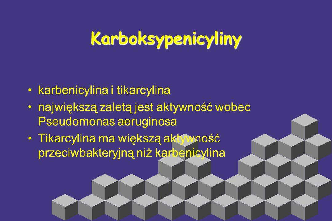 Karboksypenicyliny karbenicylina i tikarcylina