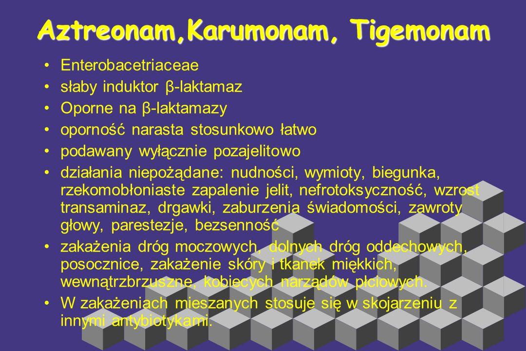 Aztreonam,Karumonam, Tigemonam