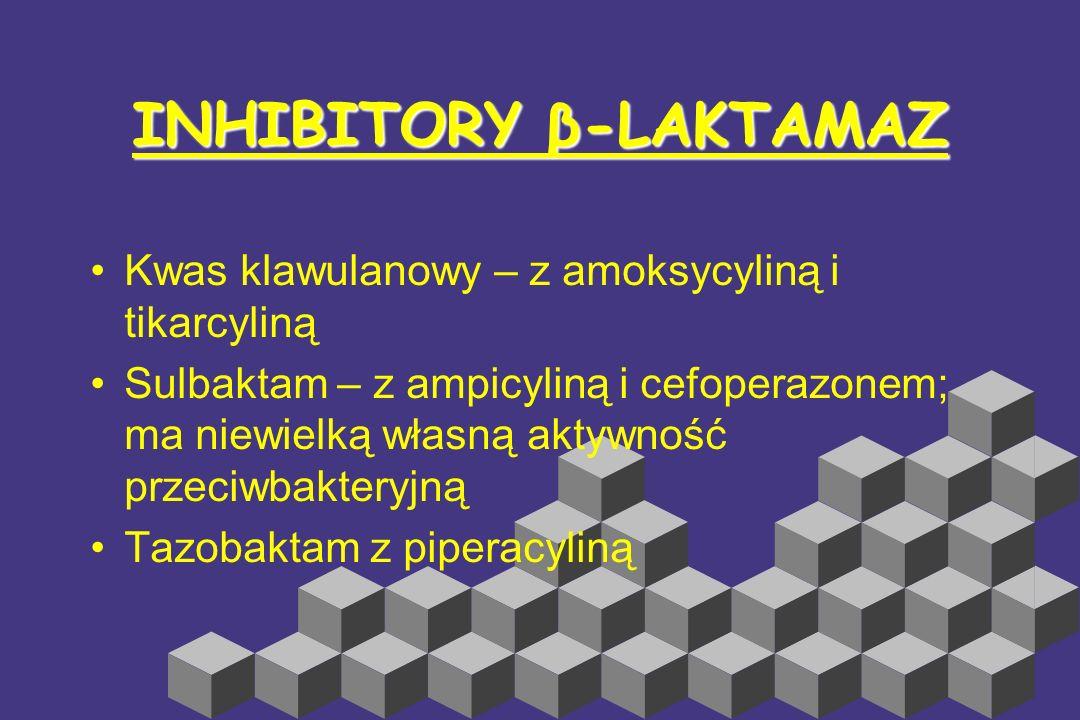 INHIBITORY β-LAKTAMAZ