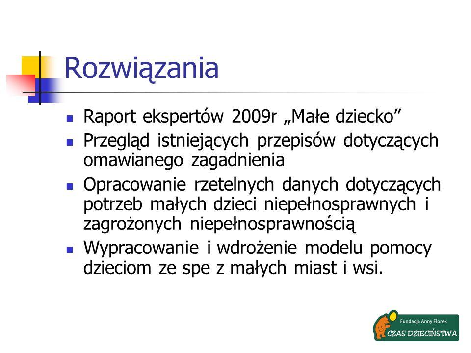 """Rozwiązania Raport ekspertów 2009r """"Małe dziecko"""