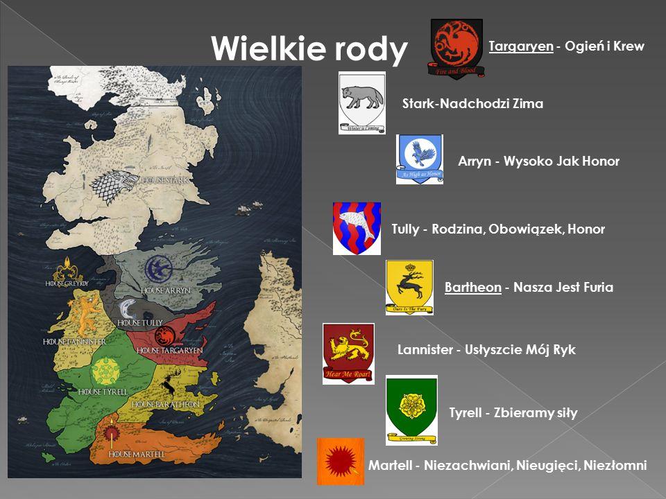 Wielkie rody Targaryen - Ogień i Krew Stark-Nadchodzi Zima